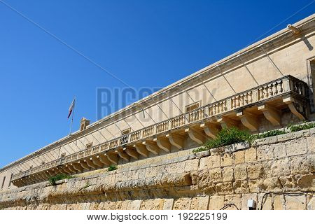 The Holy Infirmary along Triq Il-Mediterran Valletta Malta Europe.