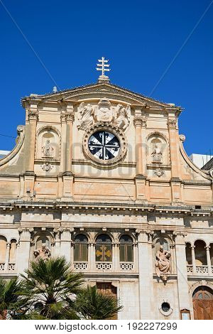Jesus of Nazareth church along the waterfront Sliema Malta Europe.