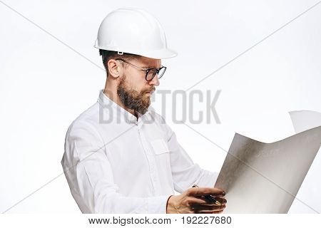 Engineer,engineer on white background, builder on white background, engineer on isolated background, builder on isolated background.
