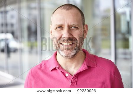 Portrait Of Casual Happy Man