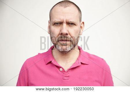 Man In Pink T-shirt