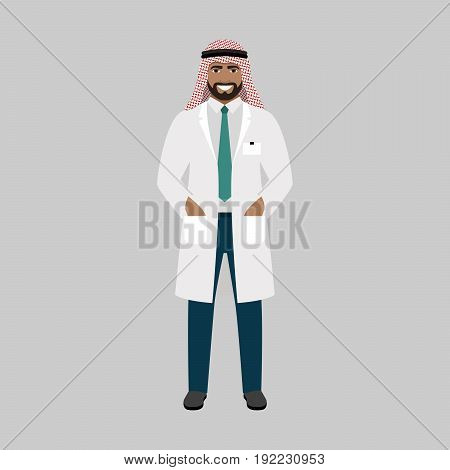 Periodontist medical specialist isolated vector illustration on grey background