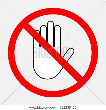 stop sign red round sign a sign prohibiting activities editable illustrations