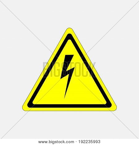 sign high voltage danger characters in yellow triangle fully editable image