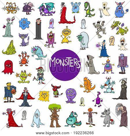 Cartoon Monster Characters Big Set