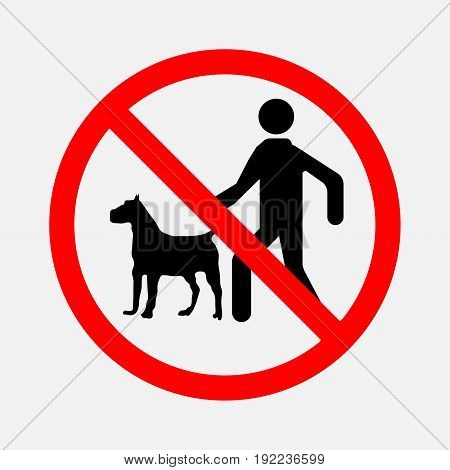 signs no dog no animal can not run with the dog editable image