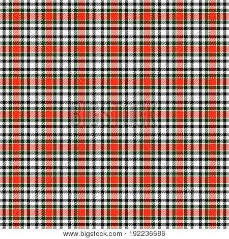 White and red tartan repetetion checked endless texture