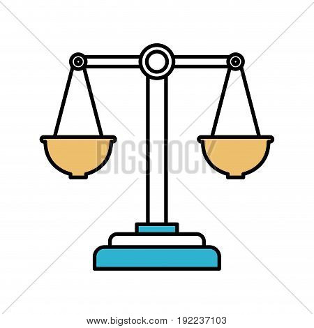 color sections silhouette of justice scales vector illustration
