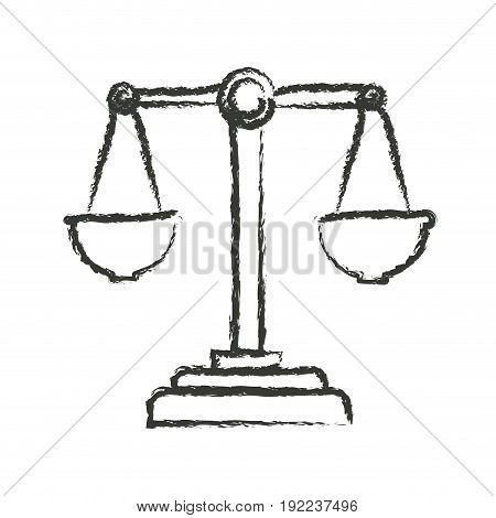 monochrome blurred silhouette of justice scales vector illustration