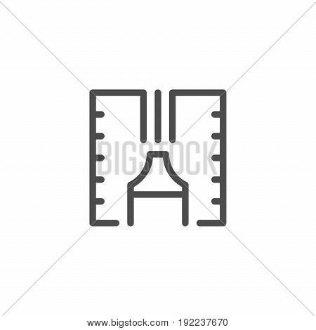 Sealant line icon isolated on white. Vector illustration
