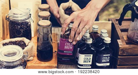 People Hands Displaying Coffee Products