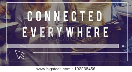 Website Connected Everywhere Graphic Word