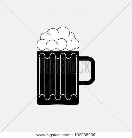 icon beer glass the image of the bar boozer fully editable image