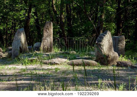 The largest sanctuary on the island of Hortica dates back to two thousand years BC.