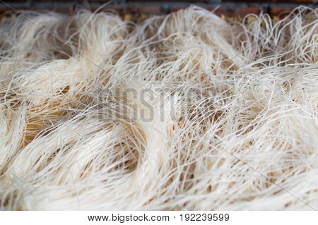 Asian dried glass Noodles Background in Vietnam