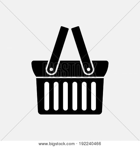 shopping basket original design icon illustration fully editable image