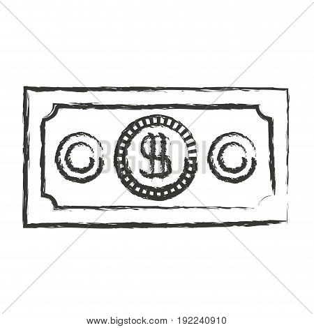 monochrome blurred silhouette of money bill vector illustration