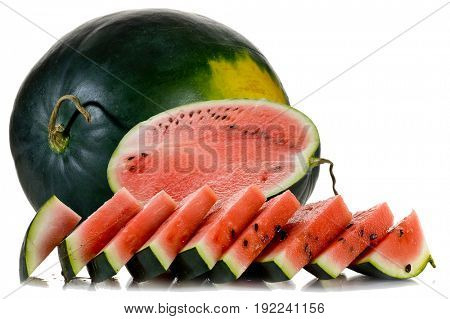 Close-up image of watermelon studio isolated on white background