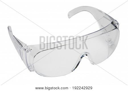 Protection working glasses with clipping path on white