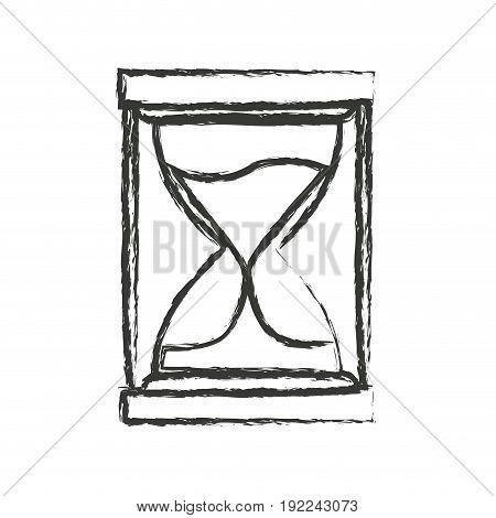 monochrome blurred silhouette of sand clock icon vector illustration