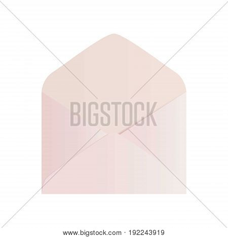 Pink open envelope mockup. Vector envelope design.