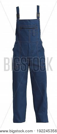 Protective working bluejeans trou isolated on white background