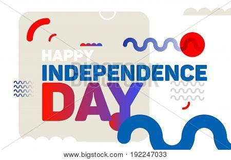 Happy independence day modern background. 4th july vector illustration.