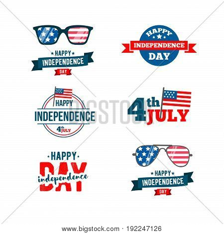 independence day 4th of July typographic design.United Stated Fourth of July vector illustration