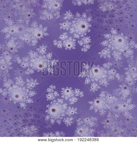 Purple beautiful floral motive little roses digital design