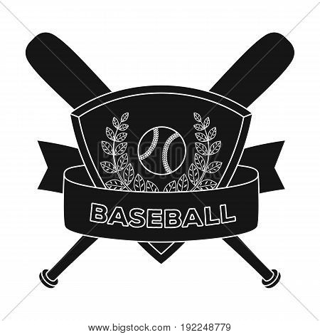 Emblem. Baseball single icon in black style vector symbol stock illustration .