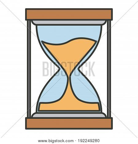 colorful silhouette of sand clock icon vector illustration