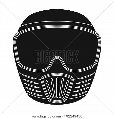 Protective mask.Paintball single icon in black style vector symbol stock illustration .