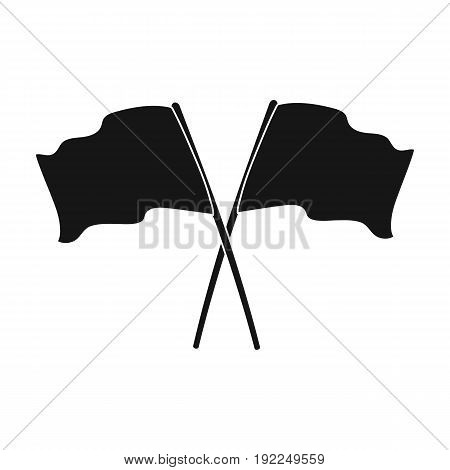 Red and blue flags.Paintball single icon in black style vector symbol stock illustration .