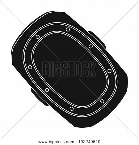 knee pad.Paintball single icon in black style vector symbol stock illustration .