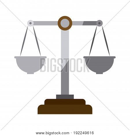 colorful silhouette of justice scales without contour vector illustration