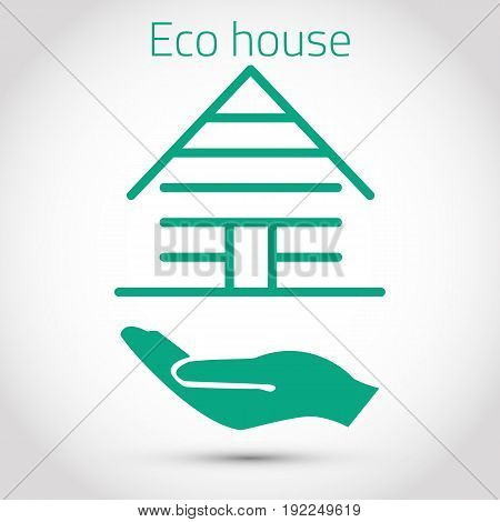 Bio green house icon. Isolated stock vector illustration