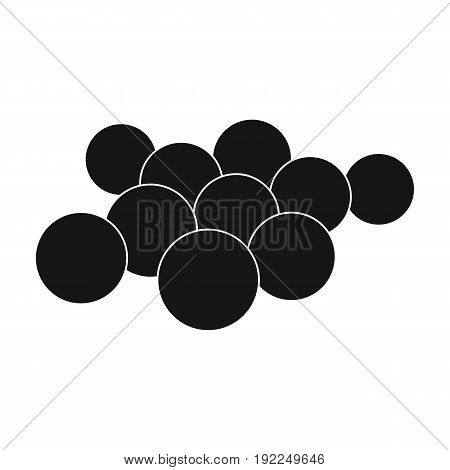 Balls for paintball.Paintball single icon in black style vector symbol stock illustration .