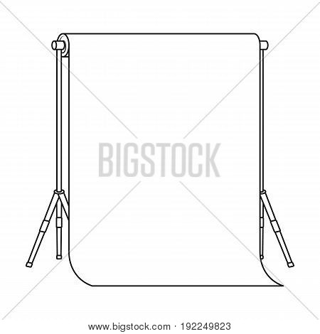 Background stand, hromakey. Making a movie single icon in outline style vector symbol stock illustration .