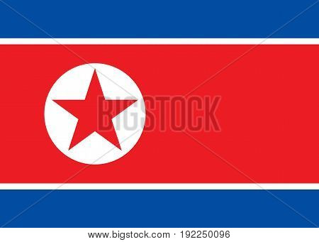 North Korea flag. National flag Republic of North Korea