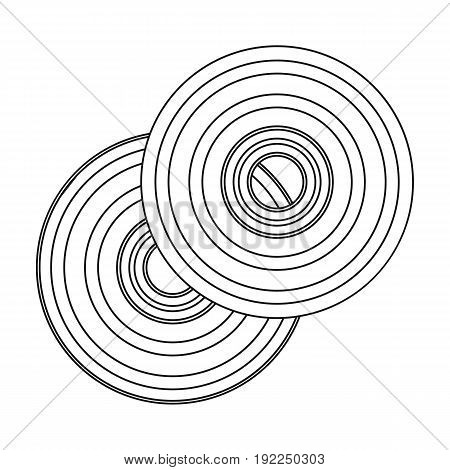 DVD discs.Making movie single icon in outline style vector symbol stock illustration .