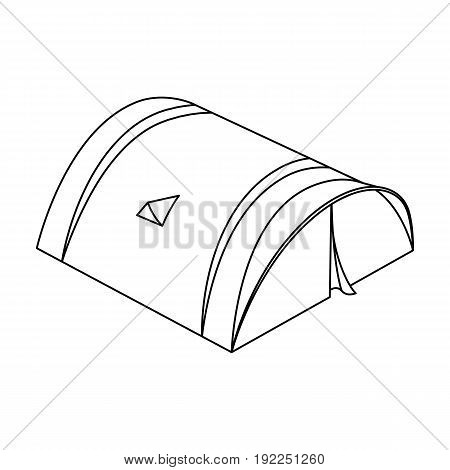 The tent is round.Tent single icon in outline style vector symbol stock illustration .