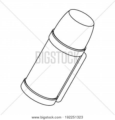 Thermos for tea and coffee.Tent single icon in outline style vector symbol stock illustration .