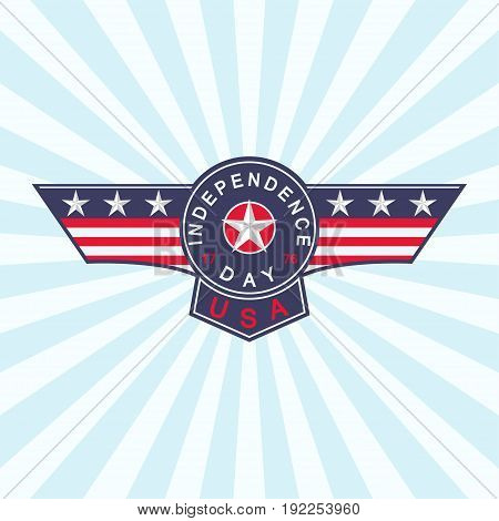 USA Independence Day background. 4th of July background. Vector illustration.