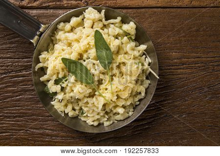 Traditional Bavarian Spaetzle, Or Boiled Egg Noodles.