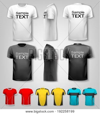 T-shirts with sample text space. Vector illustration.