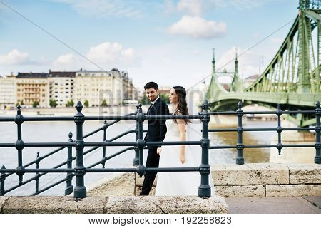 Wedding Photo At Old City Background