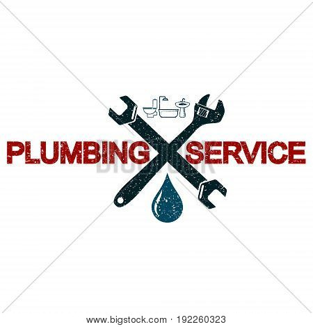 Plumbing Services business symbol vector design illustration