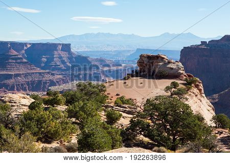 Shafer Canyon Overlook In Canyonlands National Park