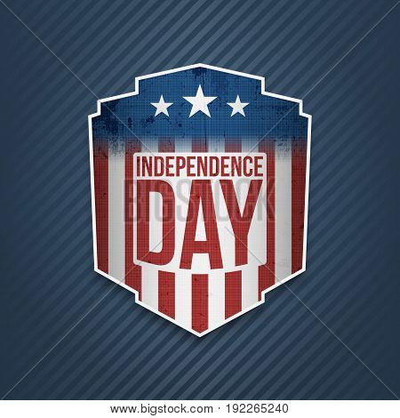 Happy Independence Day United states of America Label. Vector illustration