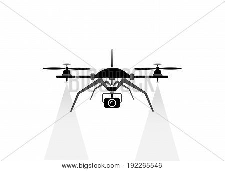 drone flying, technology service icon , whit camera